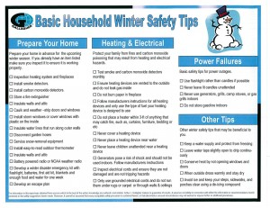 Basic Household Winter Tips